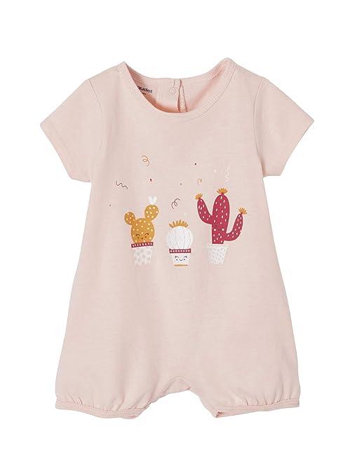 08daec4fb10fef VERTBAUDET Lot de 2 pyjashorts bébé coton pressionné dos LOT ROSE PALE 1M -  54CM