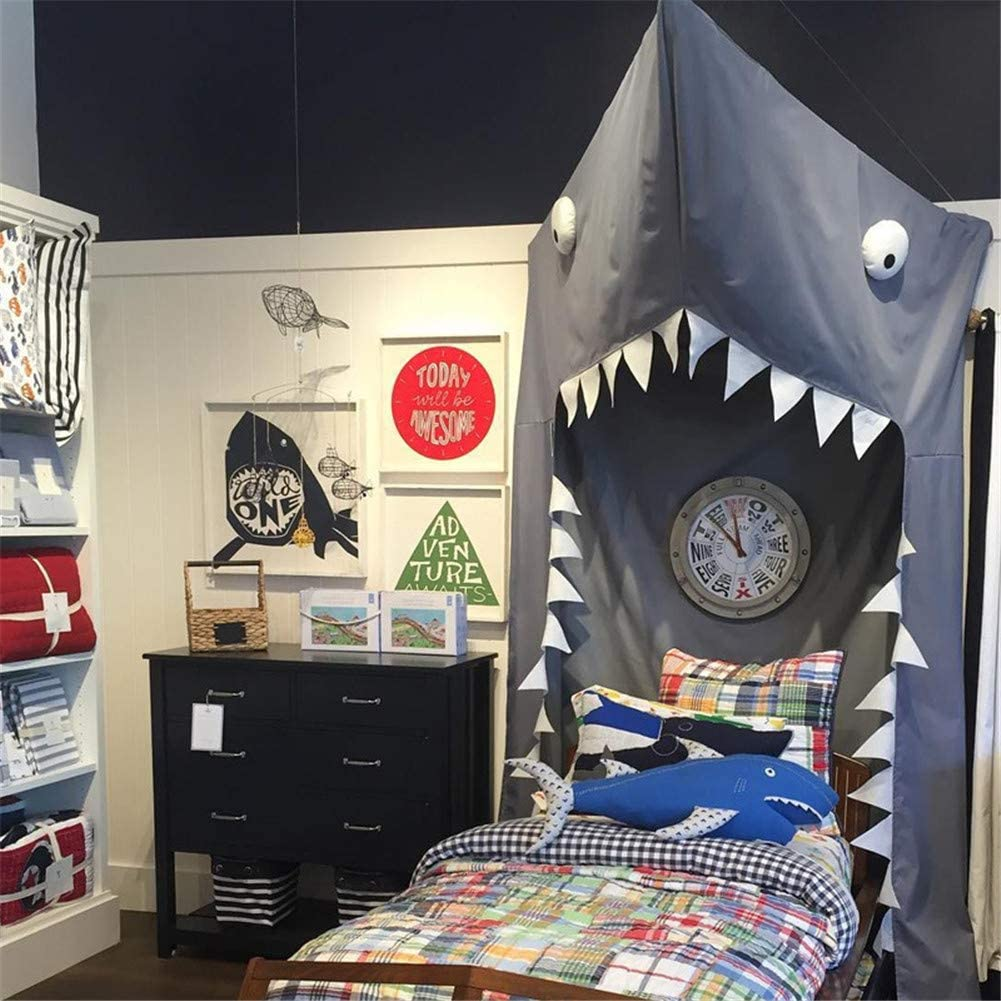 Amazon.com: MAMASAM Mosquito Net Bed Canopy Shark Double Bed