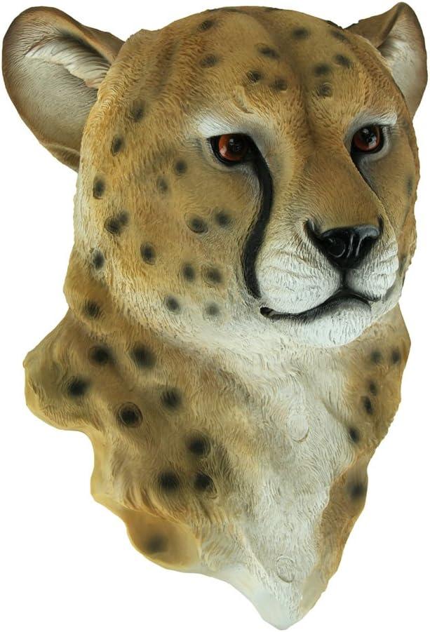 World Of Wonders Resin Wall Sculptures Kian Cheetah Head Mount Wall Statue Bust 12 X 16 X 6.5 Inches Tan