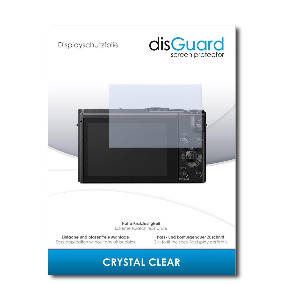 Transparente Cristal 2 Piezas disGuard/® Protector de Pantalla Anti-Ara/ñazos Anti-Huella Dactilar Pel/ícula Protectora Invisible compatibile con Panasonic Lumix DMC-LX15 Crystal Clear
