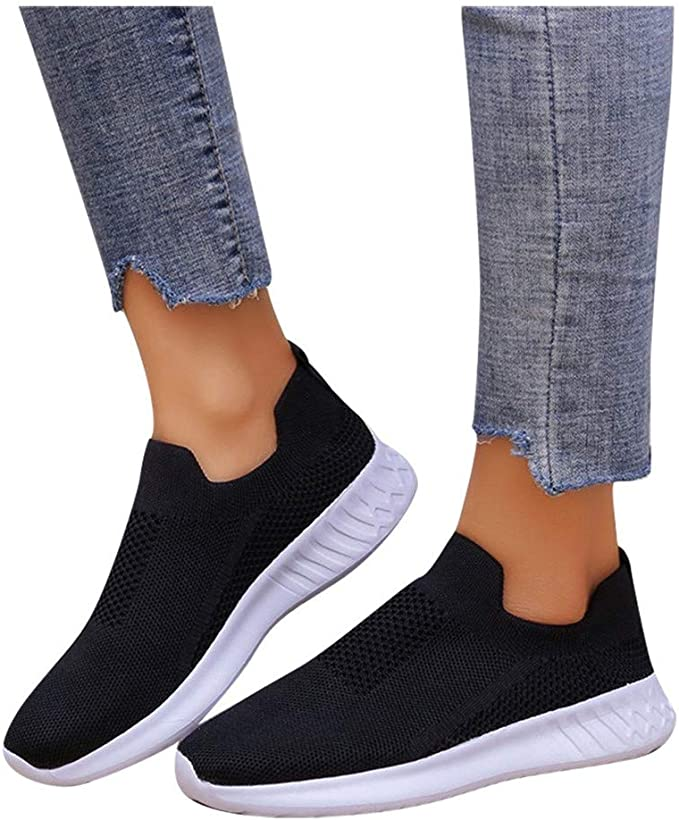 Details about  /Ladies Sneakers Casual Sport Walking Shoes Breathable Hollow Mesh Flat ShoeFY Jc