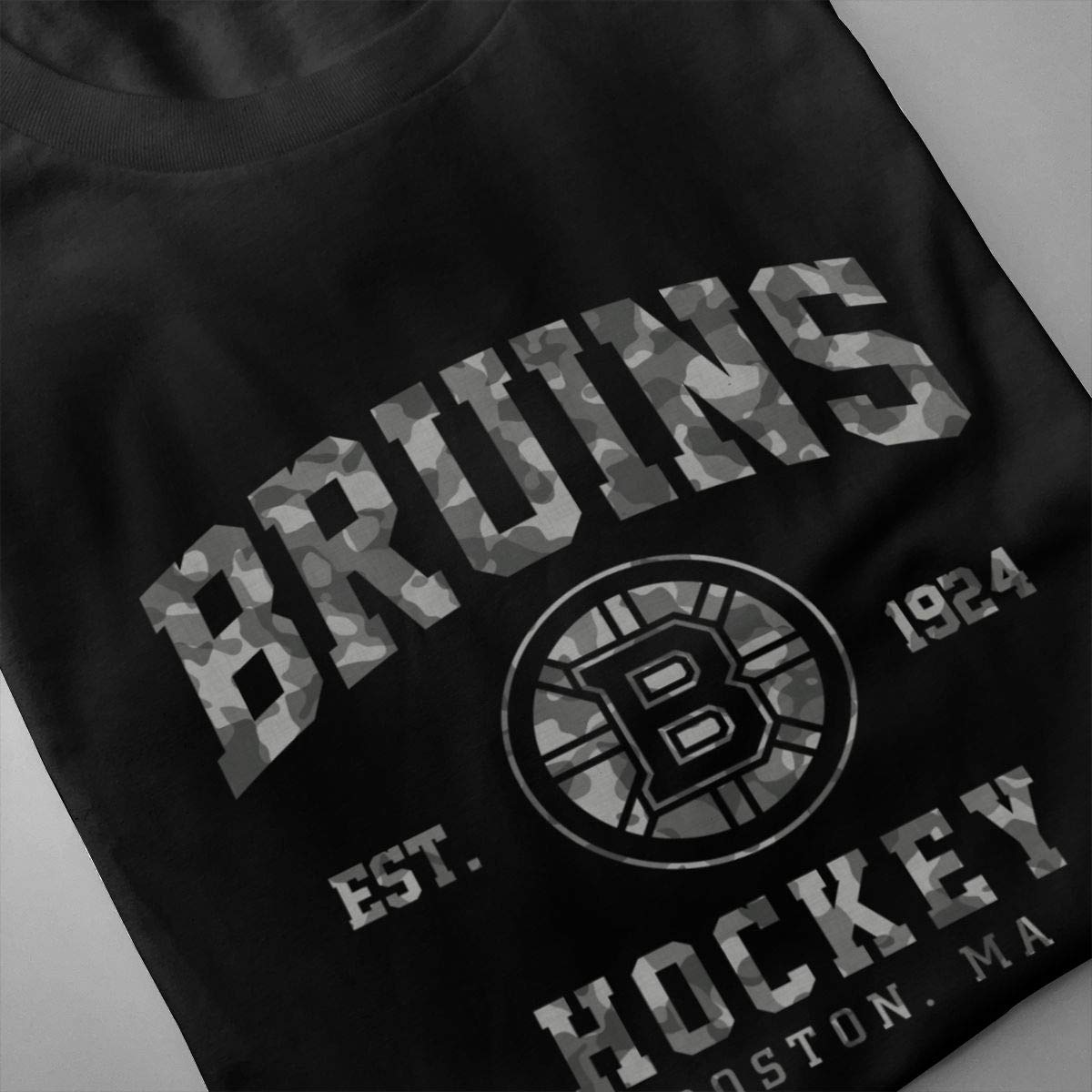 DonaPh Mens Classic Solid Ultra Soft Cotton Crew Neck Boston-Bruins T-Shirt Multipack