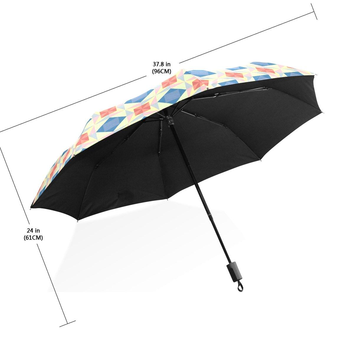 COOSUN Sin fisuras patrón de estrella de vector automático 3 plegable Sombrilla de Protección Solar paraguas anti-UV para la Mujer Color # 001: Amazon.es: ...