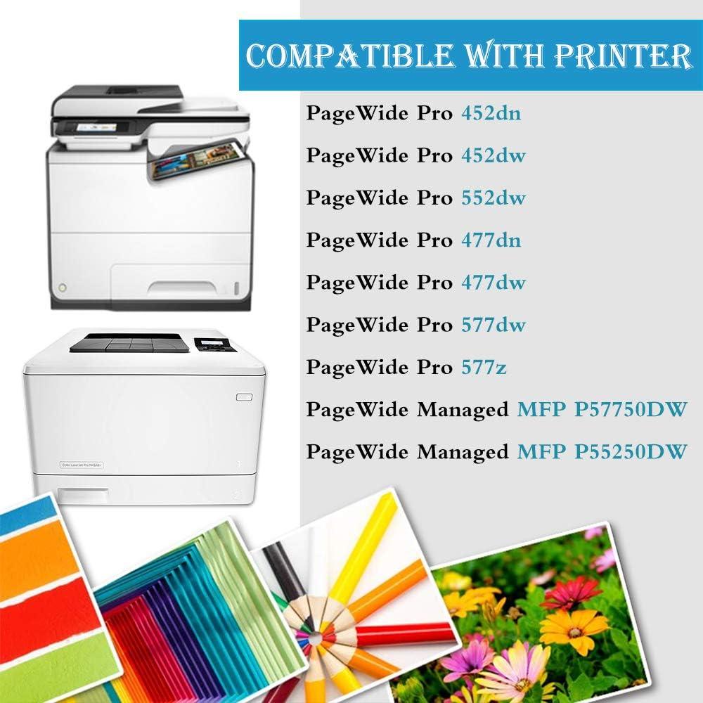 4-Pack Black Remanufactured Ink Cartidges Replacement for HP 972A Printer 452dn 452dw 552dw 477dn 477dw 577dw 577z MFP P57750DW MFP P55250DW Ink Cartridge,by UstyleToner