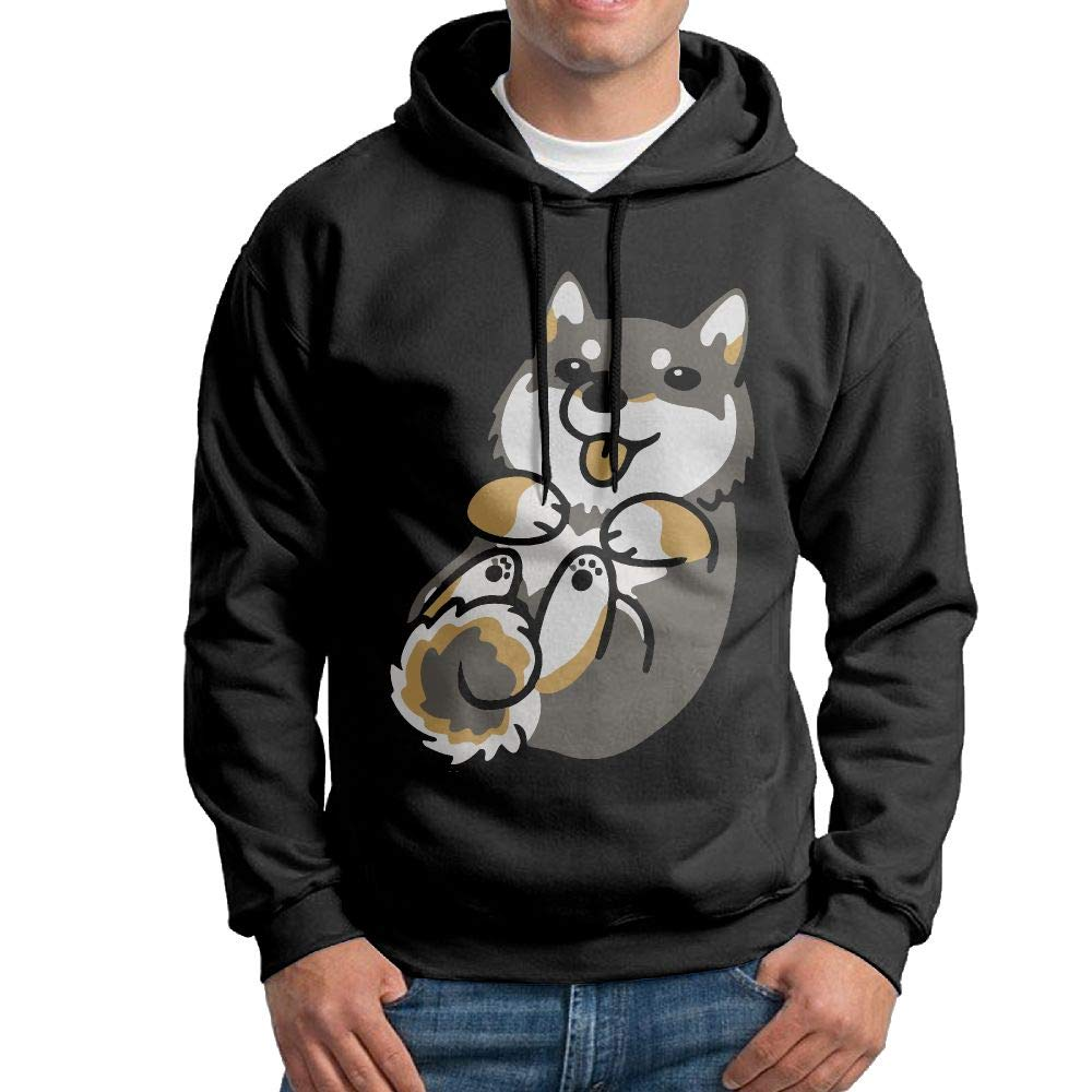 Casual Doge with IT Dog Cotton Coat for Mens Vtw24i-5 Mens Hooded Sweatshirt