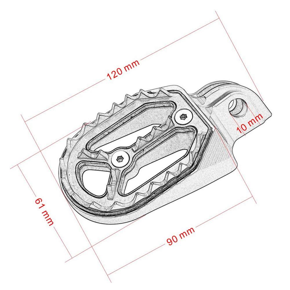 Haute Qualit/é 2 Pcs Moto Requin Dent MX Racing Repose-Pied Repose P/édales Pour KTMHusavama 85cc-530cc ALL 2005-2015