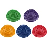 MagiDeal 5pcs Balance Pods, 6.3 inch Hedgehog Balancing Stepping Stones for Adults Yoga/Daily Exercise, Kids Outdoor Fun (Hemisphere)
