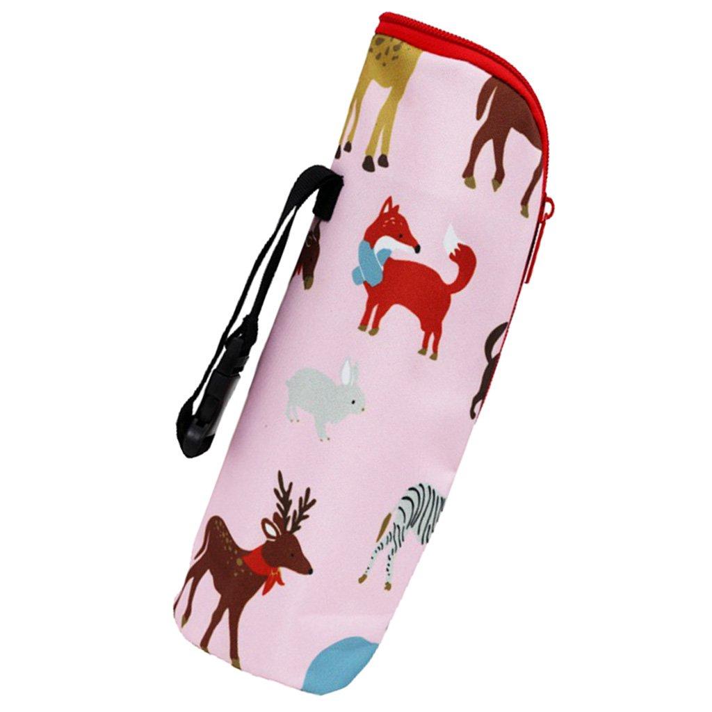 MagiDeal Natural Baby Nursing Bottle Bag Milk Bottle Warmer Insulated Tote Bag - Orange-Owl, as described non-brand