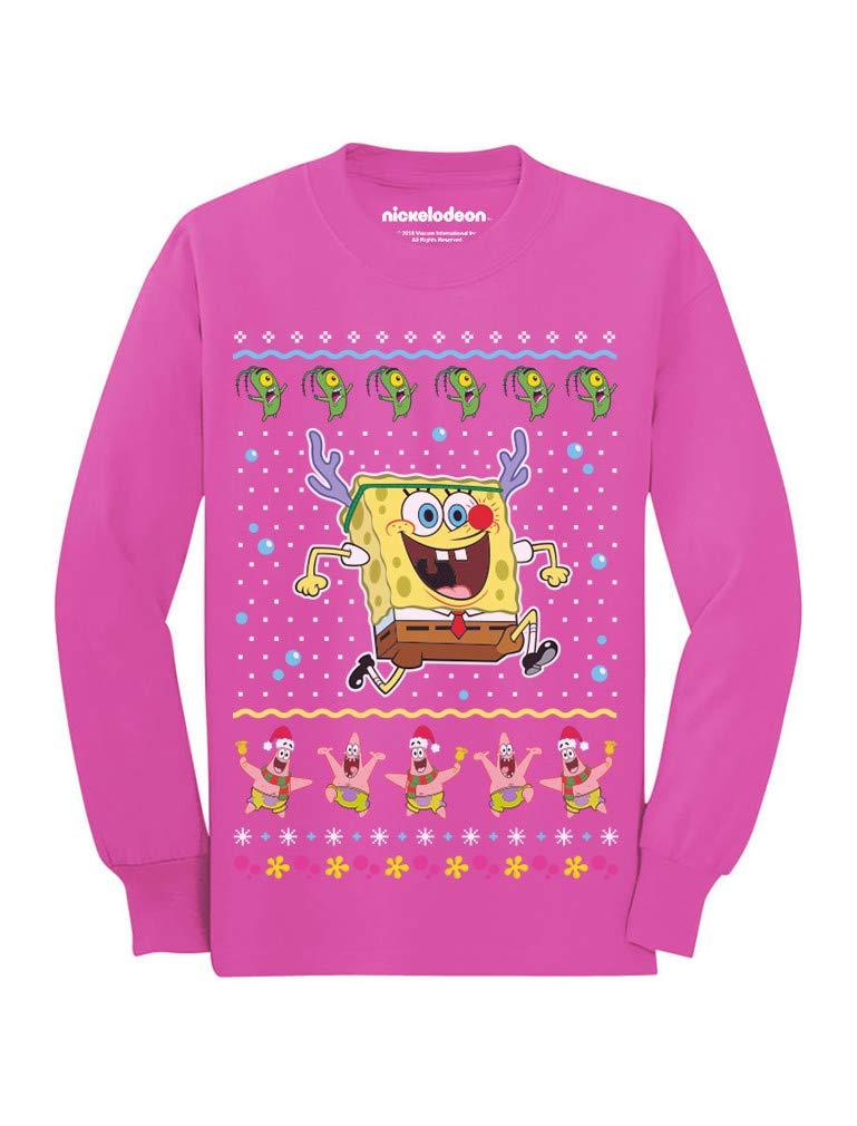 Spongebob Reindeer Ugly Christmas Sweater Toddler//Kids Long Sleeve T-Shirt