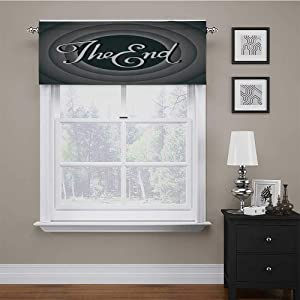 Kitchen Valances for Windows 1950s Decor Collection for Bathroom/Kitchen Windows Vintage Movie Ending Screen Camera Hollywood Industry Historic Entertainment Film Television Image 56