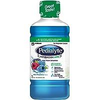 Pedialyte® AdvancedCareTM, Liquid Electrolyte Solution, Blue Raspberry, 1-L Bottle, Electrolyte Replacement Oral…