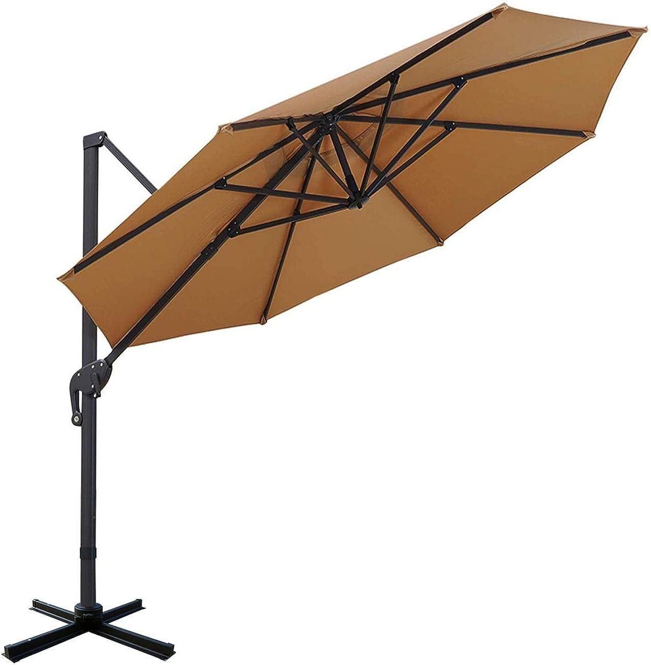Sunnyglade 11ft Patio Offset Hanging Umbrella Deluxe Outdoor Cantilever Umbrella with Easy Tilt for Garden, Backyard, Patio,Pool