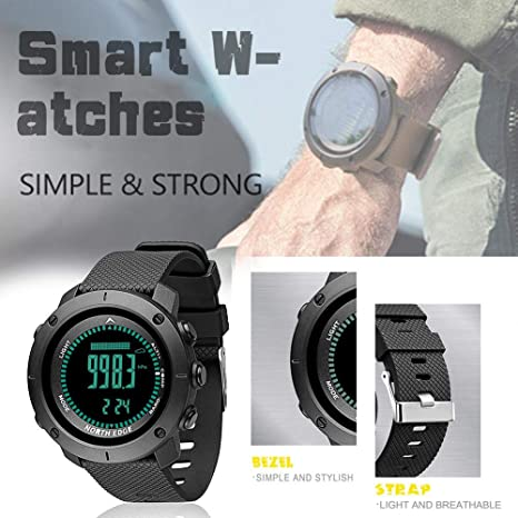iPenty Fitness Tracker - Reloj Digital para Hombre, para Deportes al Aire Libre, Running
