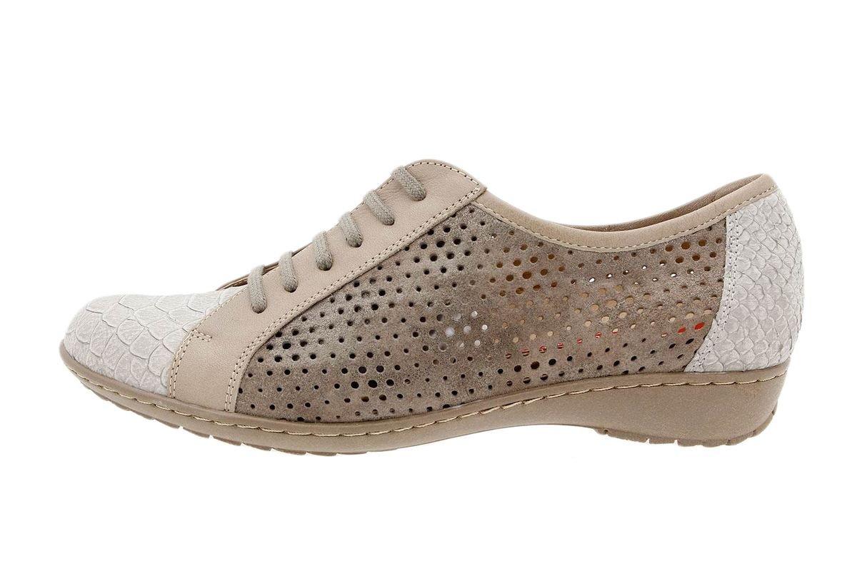 PieSanto Calzado Mujer Confort de Piel 1752 Zapato Cordón Cómodo Ancho 41 EU|Mamba Visón