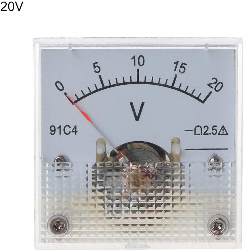 3//5//10//15//20//30//50//100//150//250 V 91C4 DC Voltm/ètre analogique Panneau de Tension Pointeur m/écanique