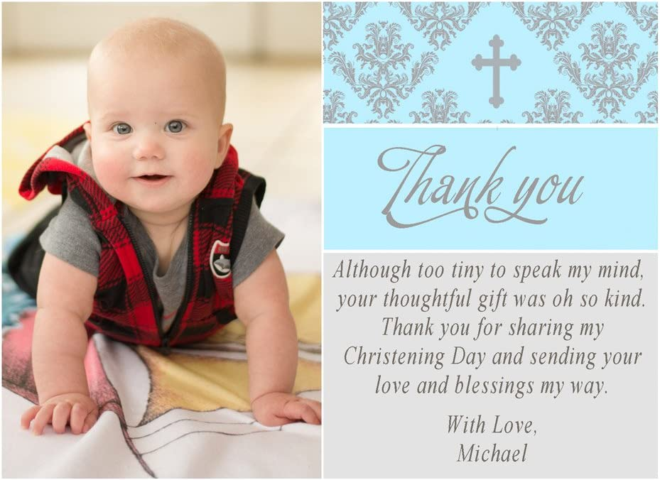 Personalised Boy/'s First Holy Communion Christening Naming Ceremony Card