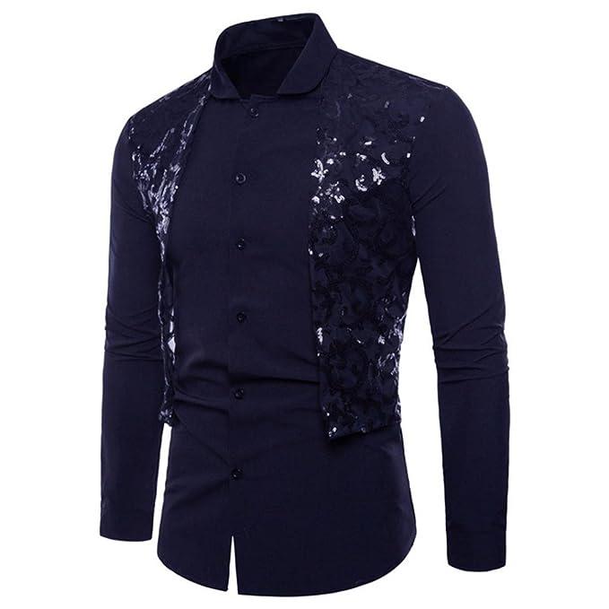 Camisa de Hombre Sannysis Moda Personalidad Retro Floral Impreso Manga Larga Negocio Ajustado Botón Formal Autocultivo Casual Camiseta para Hombre Blusa ...