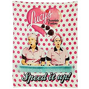 """Midsouth Products I Love Lucy Chocolate Factory Throw Blanket - 50"""" X 60"""" Machine Washable"""