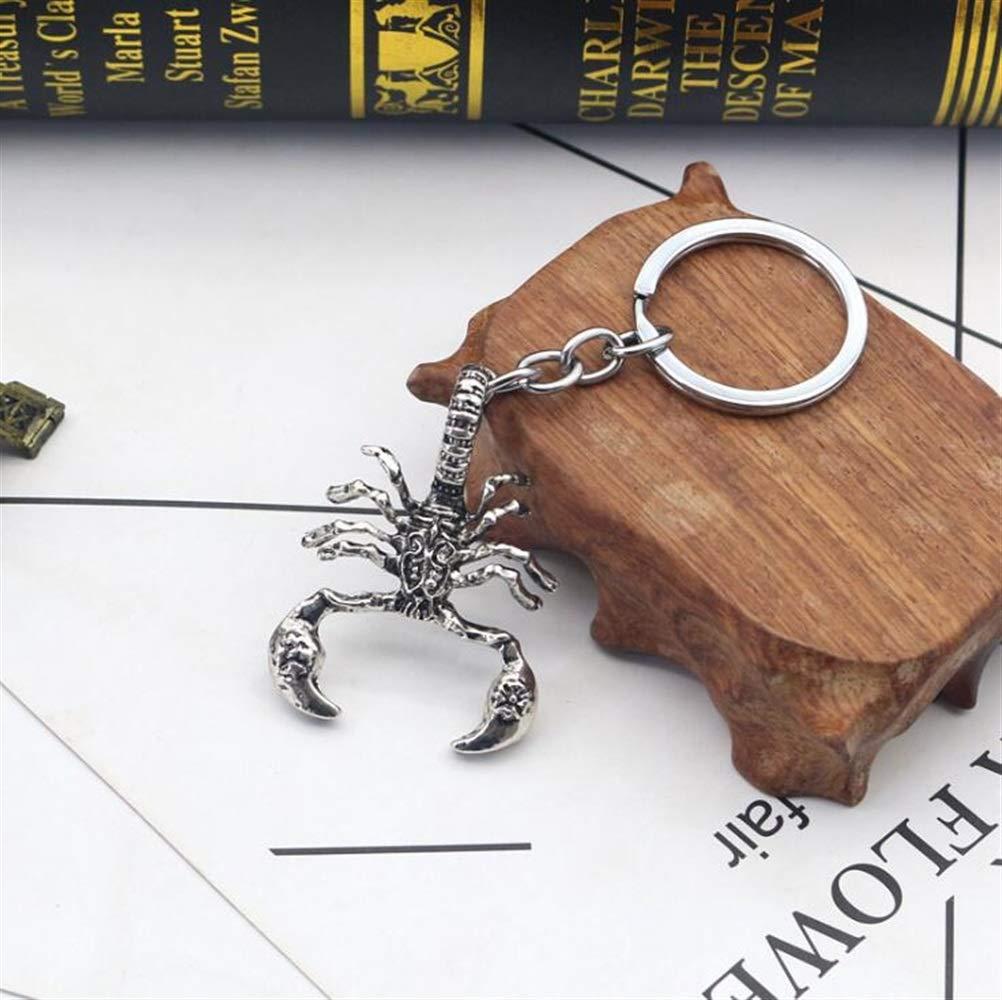 Silber Strollway Cooler und gestalteter Schl/üsselanh/änger Scorpion Anh/änger Metall Schl/üsselanh/änger Handtasche Hand Auto Charme Keychain Geschenk
