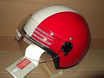 Casco Jet Moto Original Yamaha Bye Roger Color Rojo/Blanco Talla M