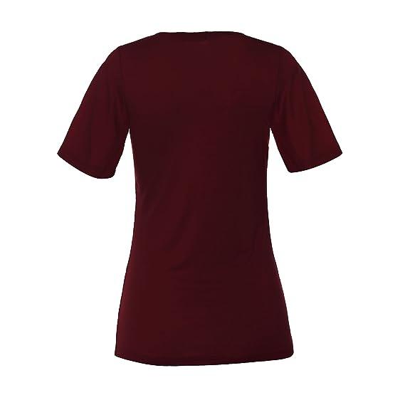 ReliBeauty Damen Kreuz Vorne Kurzarm T-Shirts Tunika Tops: Amazon.de:  Bekleidung
