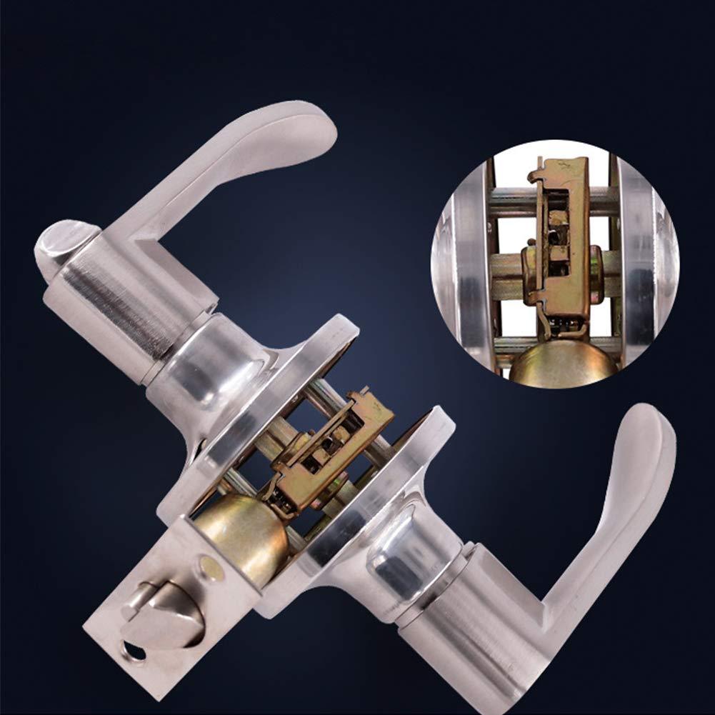 pomo de bola de entrada Manija de puerta de acero inoxidable con forma de bola para puerta con cerradura de seguridad para el hogar pasaje seguro con llaves