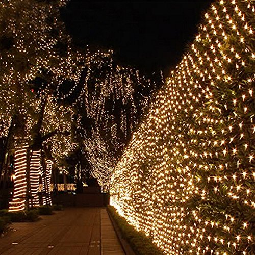 Sunvito 2M x 3M 200 LEDs Net Mesh Fairy String Good Brightness Low Power Consumption String Lights with 8...