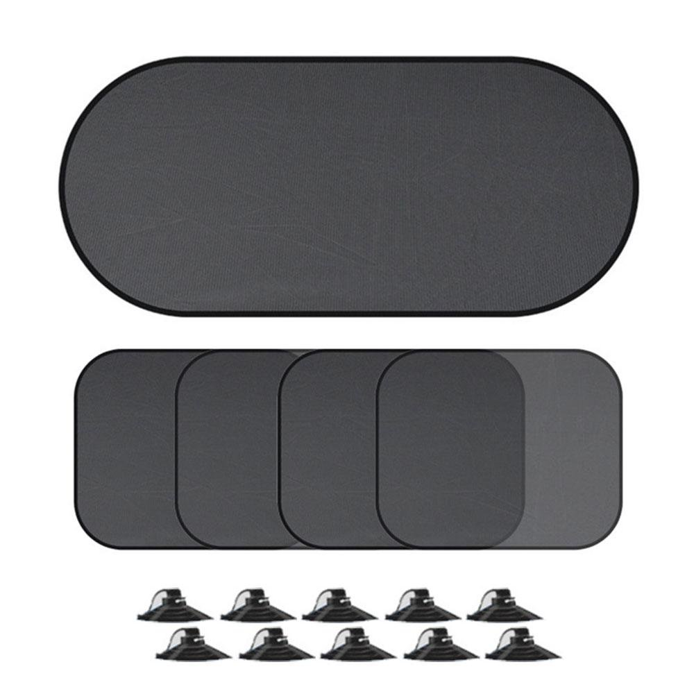 Car Sun Shades, Leegoal 5 Pack 98% UV Rays Blocker Car Side Rear Window Sunshades Screen Protector Fits Most Cars, SUVs for Babies/Children/Families/Pets