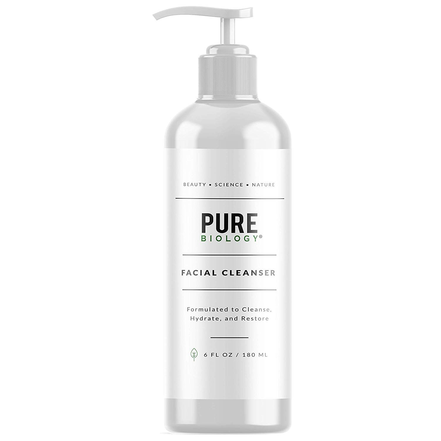 [Pure Biology] [Premium Facial Cleanser with Hyaluronic Acid, Natural Essential Oils & Anti Aging Complex – Face Wash Firms, Tightens Wrinkles, Lightens Dark Circles, Dark Spots] (並行輸入品) B07RFGFKZX  one size