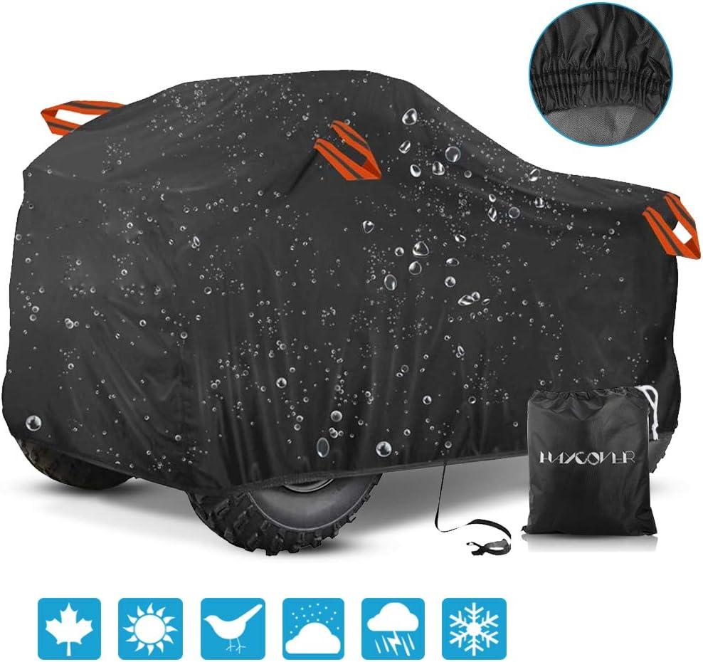 for Polaris Sportsman Yamaha Grizzly Honda FourTrax Kawasaki KFX Wheel Car Black 83x47x 45 inch Waterproof ATV Cover