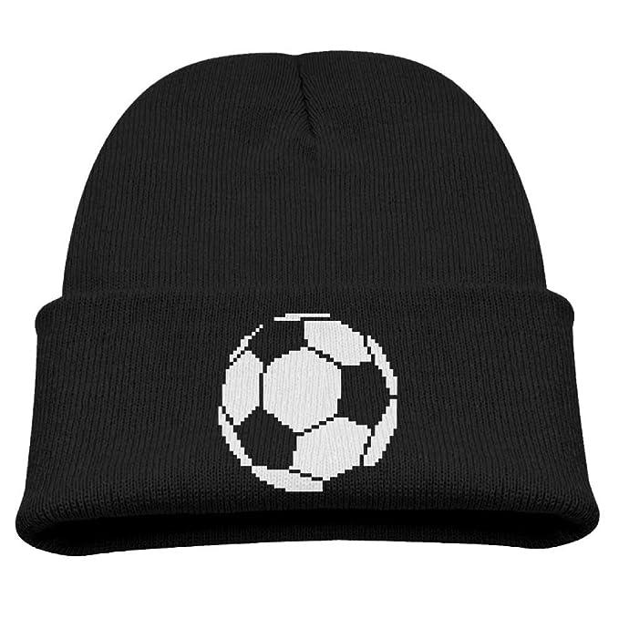 Soccer Ball Pixel Art Classic All-Match Children Knit Hats | Winter ...