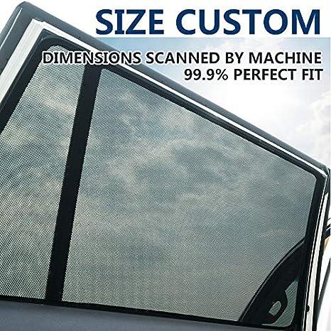 magnetisch KUNFINE Auto-Fenster-Sonnenschutz passend f/ür Mitsubishi Outlander 2016 2017 2018 2 Pcs Front
