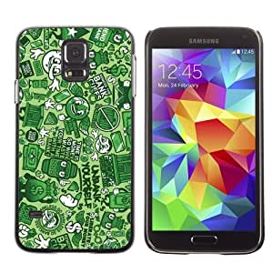 Licase Hard Protective Case Skin Cover for Samsung Galaxy S5 - Funny Graffiti Pattern