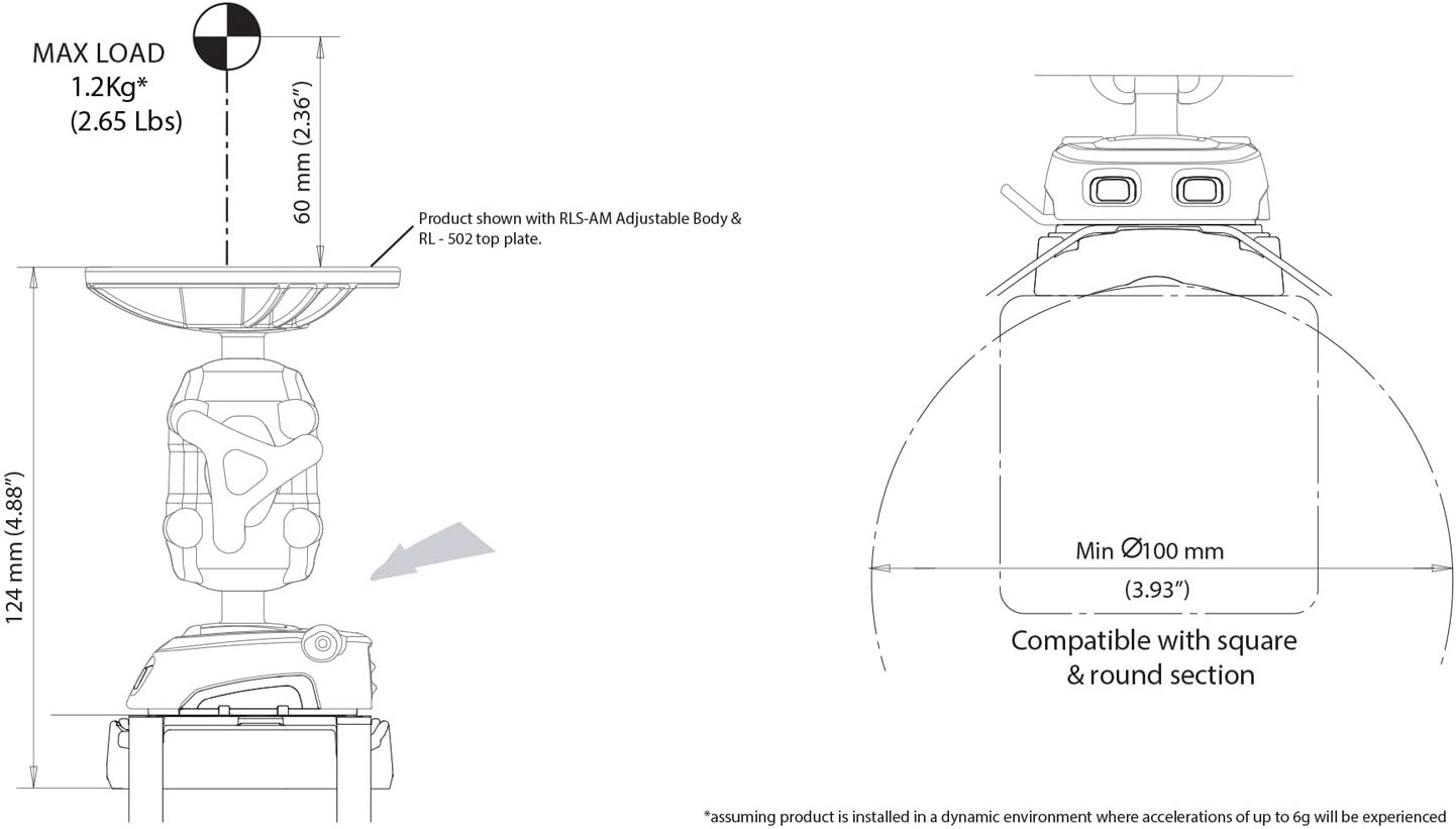 Rokk RLS-403 Mini cable tie base mount Scanstrut