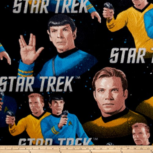 CAMELOT Fabrics Fleece Star Trek - Classic - Kirk & Spock Multi Fabric by The Yard,