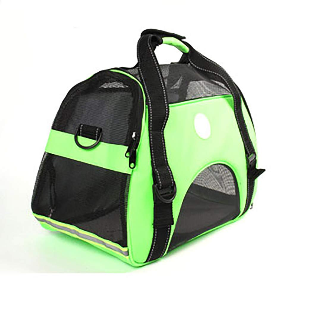 Green Pet Supplies Pet Bag Handbag Portable pet Bag Car pet Bag Passion fruit Breathable 47  23  31 cm
