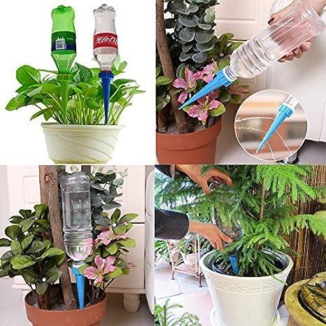 DCZTELG Sistema de riego automático para plantas y jardines, para interiores y exteriores, sistema de riego por goteo, cuidado de tus flores, ...