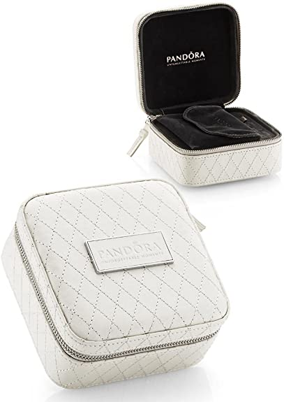 Pandora Travel Jewellery Box Beige Case With Zip Amazon Co Uk Jewellery