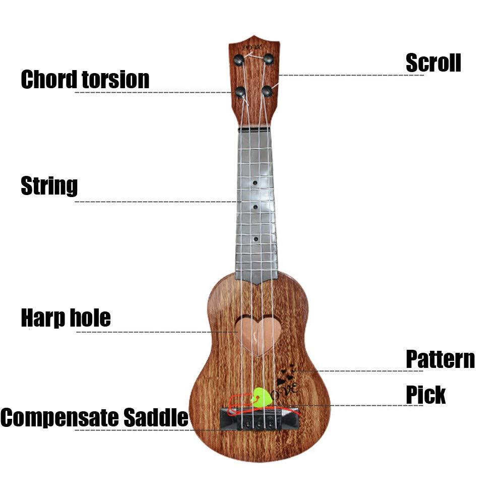 Juguete de Guitarra Ukelele Musical para Niños,Guitarra Clásica Juguete Eléctrico del Instrumento Música para Principiante, Regalo de Cumpleaños ...