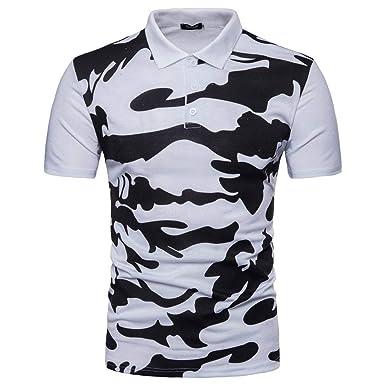 HX fashion Polo Camisa De Estilo Militar para Hombre Camuflaje ...