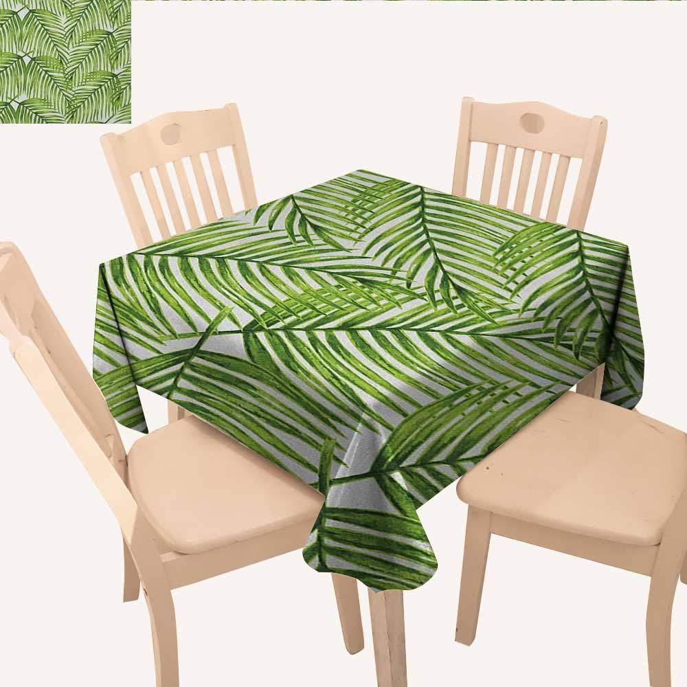 longbuyer 植物しわ防止テーブルクロス 美しい鮮やかな色 エキゾチックな花 抽象的な形状 自然の生活 テーブルクロス こぼれ防止 ホワイト マルチカラー W 36