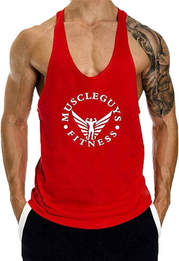 COWBI Fitness Bodybuilding Stringer Herren Gym Muskelshirt Tr/ägershirt Tank Top,M-XXL