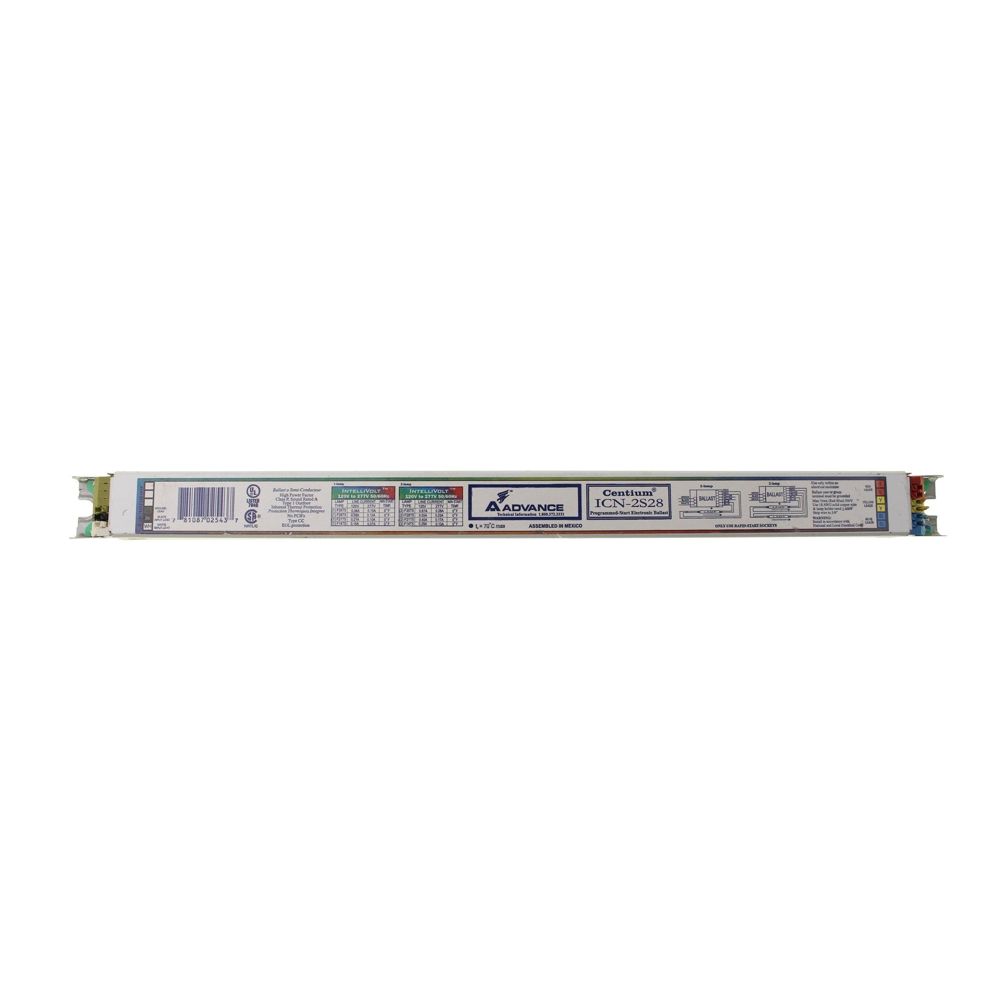 Advanced ICN-2S28 Programmed Fluorescent Ballast, 2 Lamp, T5, 32W, 120/277V