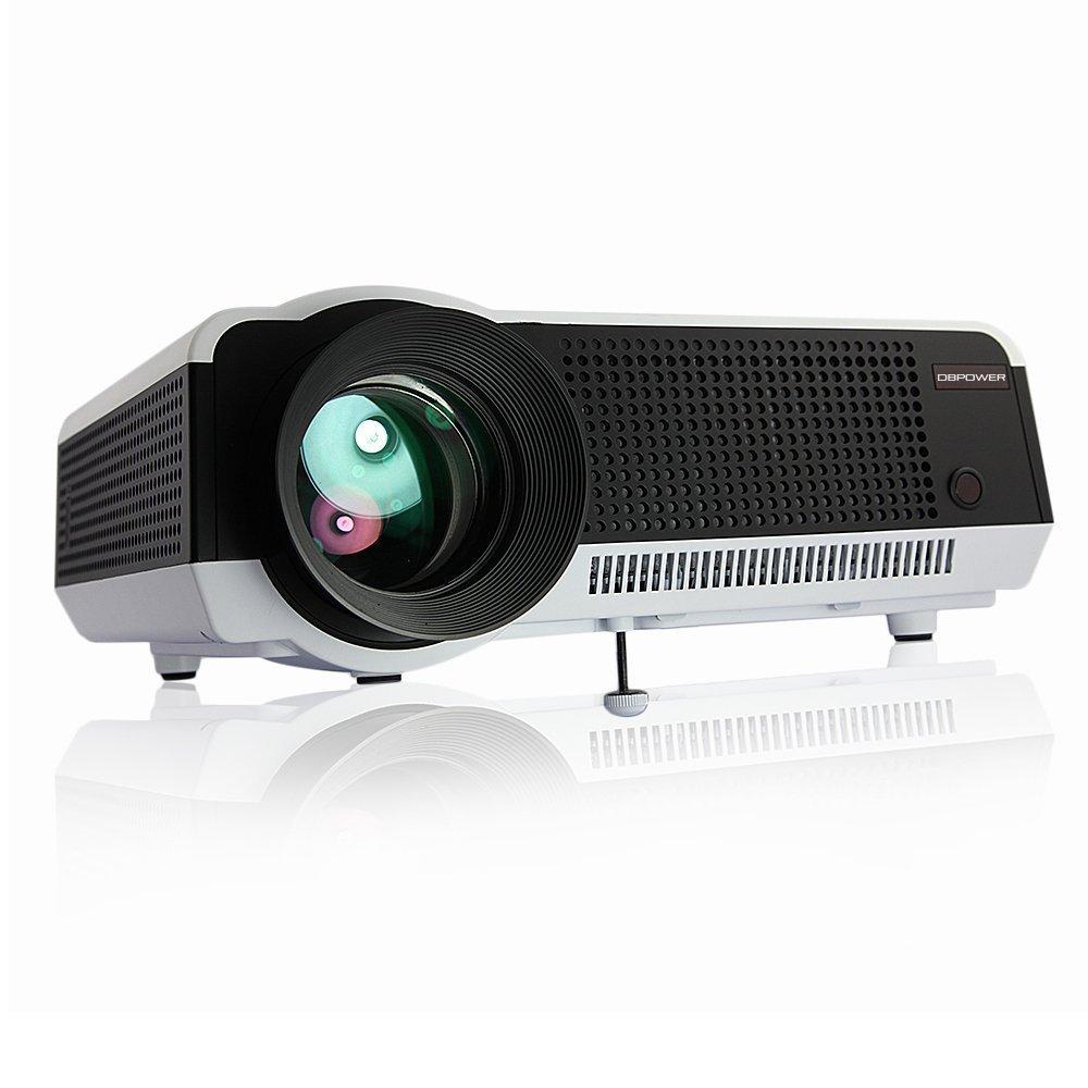 DBPOWER Proyector con control remoto,1280x768p, brillo de 2800 lúmenes, con interfaz de VGA/2*HDMI/AV, Reproducción directa y compatible con USB y ...
