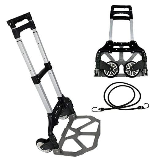 Amazon Com Gjh One Hand Truck With Black Bungee Cord Folding
