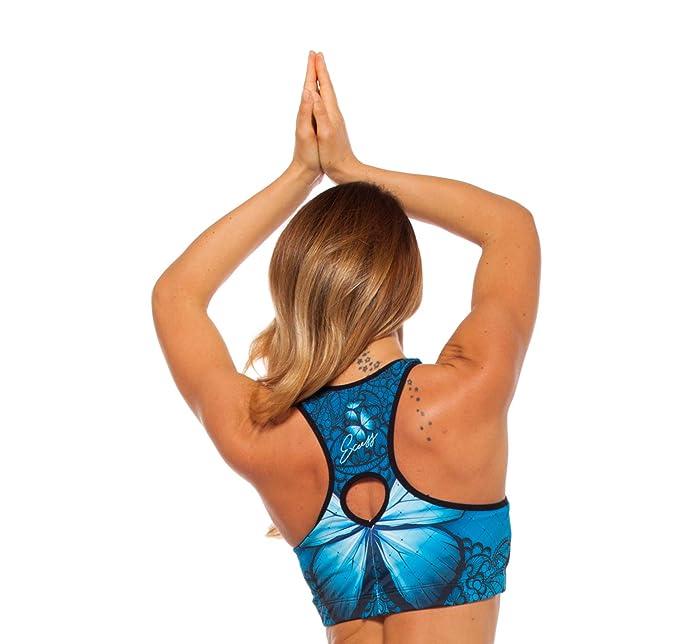 Excess Sujetador Deportivo para Mujer Shock Absorber Azul Alas Top ...