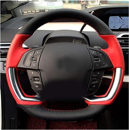 color negro Funda para volante de coche con hilo de agujas