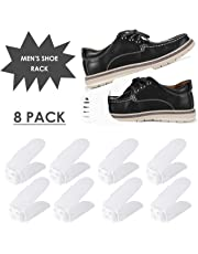 Femor Set de 10pcs de Organizadores Ajustables de Zapatos con Ranuras Soportes de Calzado Apilador para Zapatos Ahorro de Espacio