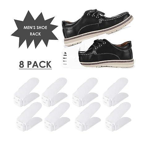 3e55ab651 Femor 8PCS Support à Chaussures Réglables, Convient aux Chaussures Grande  Taille, 3 Niveaux de Hauteur Réglable, Organiseur de Chaussures, Economie  ...