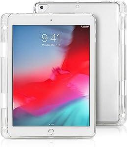 iCoverCase for iPad Mini 1/2/3/4/5 Case with Pen Slot, Ultra-Thin Silicone Back Cover Plain Soft TPU Protector Shell for iPad Mini 1/2/3/4/5 (Clear)